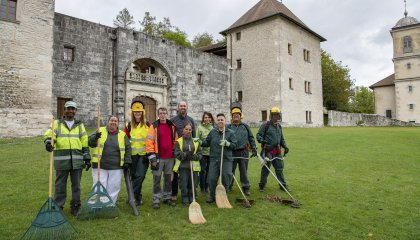 Chantier d'insertion, château de Clermont
