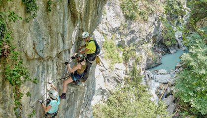 Via ferrata du Parc thermal de Saint-Gervais. © Boris Molinier - Saint-Gervais